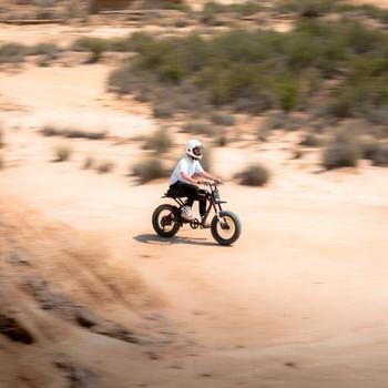 Le seul l'unique, le @bigorastik sur son RX, une espèce rare en proie aux rapaces des Bardenas  ... #letscruze #super73 #motorbikes #contentcreators #bikeride #electricbike #desertphotography #desertracing #adventurebike #motolovers